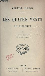Cover of: Les quatre vents de l'esprit
