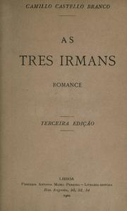 Cover of: As tres irmans: romance