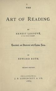 The art of reading by Ernest Legouvé