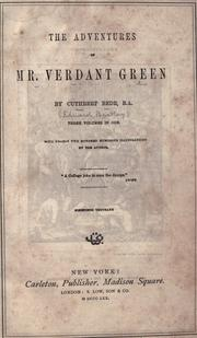 Cover of: The adventures of Mr. Verdant Green