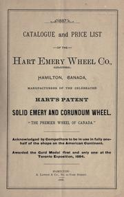Cover of: Catalogue and price list of the Hart Emery Wheel Company, Hamilton, Canada | Hart Emery Wheel Co.