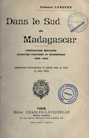 Cover of: Dans le sud de Madagascar