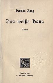 Cover of: Das weisse Haus