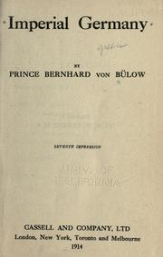 Cover of: Imperial German