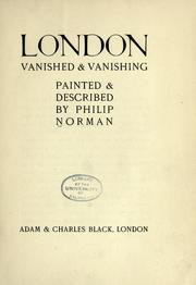 Cover of: London vanished & vanishing