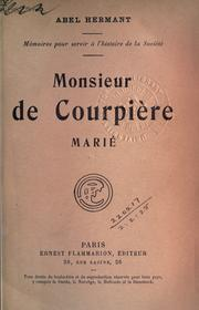 Cover of: Monsieur de Courpière marie