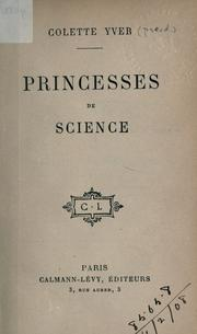 Cover of: Princesses de Science