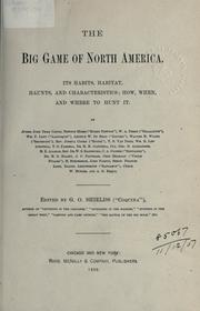 Cover of: big game of North America | G. O. Shields