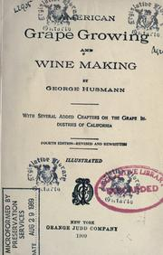 Cover of: American grape growing and wine making