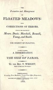 Cover of: The formation and management of floated meadows