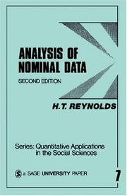 Cover of: Analysis of Nominal Data (Quantitative Applications in the Social Sciences)