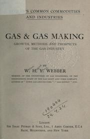Cover of: Gas & gas making