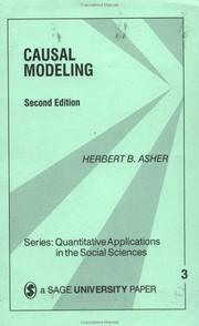 Cover of: Causal modeling | Herbert B. Asher