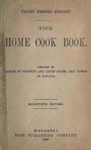 Cover of: The home cook book |