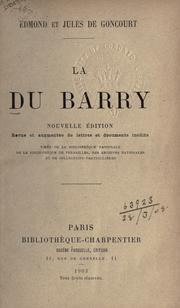 Cover of: La Du Barry