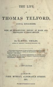 Cover of: The life of Thomas Telford, civil engineer