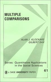Cover of: Multiple comparisons