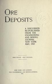 Cover of: Ore deposits |