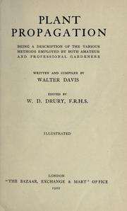 Cover of: Plant propagation | Walter Davis