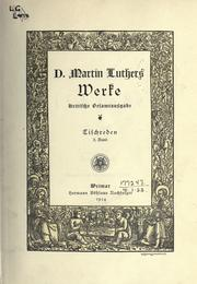 Cover of: Werke. by Martin Luther