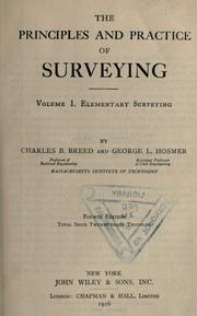 Cover of: Elementary surveying | Charles B. Breed