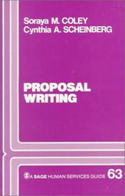 Cover of: Proposal writing