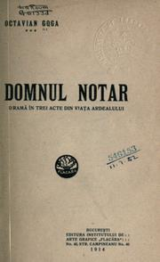 Cover of: Domnul notar