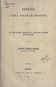 Cover of: Cena Trimalchionis