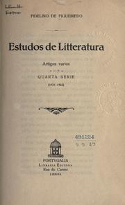 Cover of: Estudos de litteratura