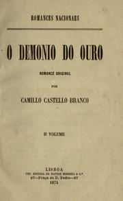 Cover of: O demonio do ouro, romance original