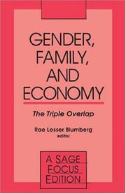 Cover of: Gender, Family and Economy | Rae Lesser Blumberg