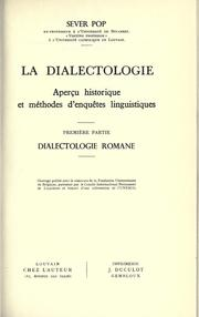 La dialectologie by Sever Pop