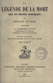 Cover of: La légende de la mort
