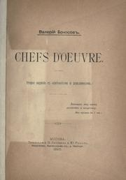 Cover of: Chefs d'oeuvre