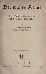 Cover of: Der wahre Staat