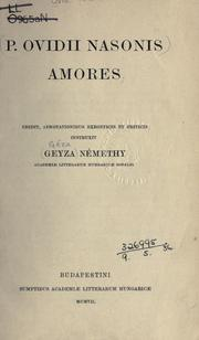 Cover of: Amores