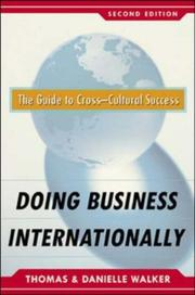Cover of: Doing Business Internationally, Second Edition | Danielle Medina Walker