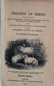 Cover of: treatise on sheep | Ambrose Blacklock