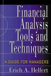Cover of: Financial analysis