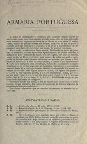Cover of: Armaria portuguesa