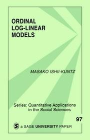 Cover of: Ordinal log-linear models | Masako Ishii-Kuntz