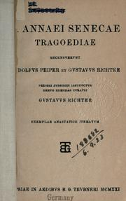 Cover of: Tragoediae | Seneca the Younger