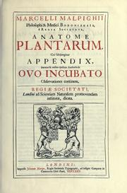 Cover of: Anatome plantarum