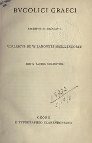 Cover of: Bucolici graeca