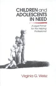 Cover of: Children and Adolescents in Need | Virginia G. Weisz