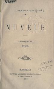 Cover of: Nuvele