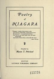 Cover of: Poetry of Niagara. -- | Myron Thomas Pritchard