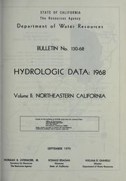Hydrologic data, 1968 by California. Dept. of Water Resources.