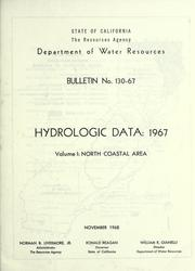 Hydrologic data, 1967 by California. Dept. of Water Resources.