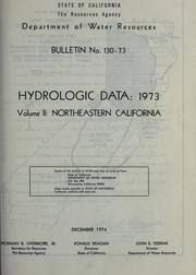 Hydrologic data, 1973 by California. Dept. of Water Resources.